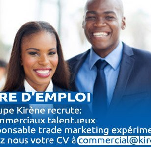 Le Groupe Kirène recrute des commerciaux et un responsable trade marketing.